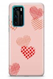 Huawei P40 Kılıf Love Serisi Sand Pink