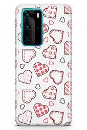Huawei P40 Pro Kılıf Love Serisi Pink