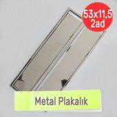 Metal Krom Nikelaj Plakalık Altlığı Paslanmaz Çerçeve Koruyucu