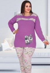 Bayan Büyük beden Pijama Takımı B-113