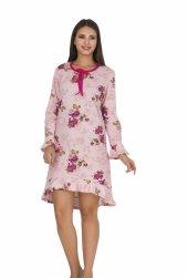 Bayan Pembe çiçekli Diz üstü Alt üst elbise 5050