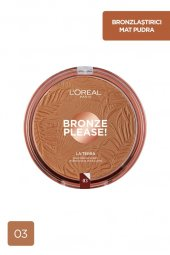 Loreal Paris Bronze Please Bronzlaştırıcı Pudra 03 Amalfi Medio