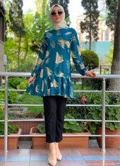 modayns Kadın Petrol Empirme Pegasus Tunik