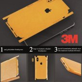 Xiaomi Redmi 8 Mermer Desenli Sticker 3M Kaplama