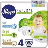 Sleepy Natural 4 Numara Maxi 90'lı Bebek Bezi
