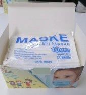 3 Katlı Medikal Çocuk Maskesi Full Ultrasonik 50 Adet Steril Ürün