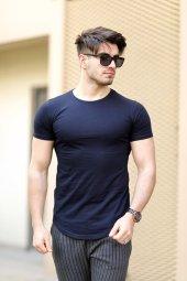 Cool&wear 12103 Basic Oval Etek Lacivert T Shirt