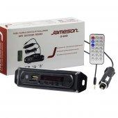 Jameson Js 6usb Mikrofonlu Bluetooth Aux Usb Sd Mmc Kumandalı Oto Teyp Çevirici Dijital Player