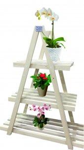 Decolfin Çiçeklik Ahşap Üçgen Naturel