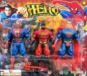 Batman Spiderman Superman Süper Kahramanlar 3 Lü Oyuncak Figür Seti