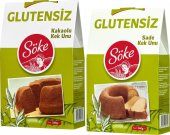 Söke Glutensiz Sade Kek Ve Kakaolu Kek Un Karışımı 240 Gr 2 Paket