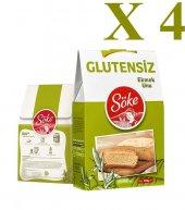 Söke Glutensiz Ekmek Unu 250 Gr 4 Paket