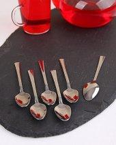 Paslanmaz Metal Çay Kaşığı 6 Lı