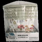 4 Katlı 4 Çekmeceli Desenli Plastik Sebzelik Plastik Komidin