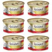Gourmet Gold Parça Etli Sığır Etli 85 Gr X 6...