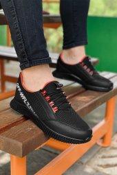 Wanderfull 4041 Merdane Siyah Kırmızı Günlük Ayakkabı