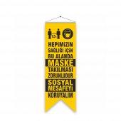 Koronavirüs Maske Takılması Zorunludur Kırlangıc Bayrak Sarı