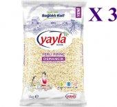 Yayla Osmancık Pirinç 1 Kg 3 Paket