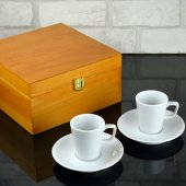 Espresso Kahve Seti, İki Kişilik Kahve Seti Ahşap Kutusunda