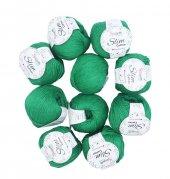 Benetton Yeşil Slim Cotton İp - 10lu Set