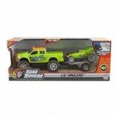 Neco Toys Acil Kurtarma Araçları Çekicili Araç Set Yeşil Sesli ve Işıklı 40550-40553