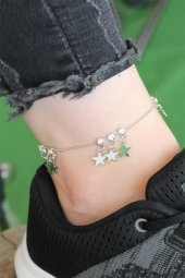 Silver Renk Yıldız Figürlü Zirkon Taşlı Halhal