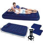 Bestway Çift Kişilik Şişme Yatak Set Pompa Yastık