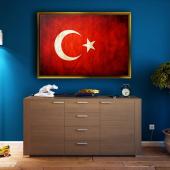 ALTIN ÇERÇEVELİ KANVASS TABLO548