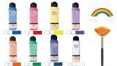 Artdeco 140 ml 8 Renk Gökkuşağı Renkler Seti (Yelpaze Hediyeli)