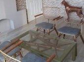 Bengi Zlf Tel Sandalye Dört Adet Metal Transmisyon  Gümüş Gri Sehpa -2
