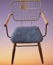 Bengi Zlf Tel Sandalye Metal Transmisyon Mat Gold  Renk -3