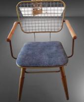 Bengi Zlf Tel Sandalye Metal Transmisyon Mat Gold  Renk -4
