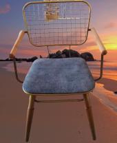 Bengi Zlf Tel Sandalye Metal Transmisyon Mat Gold  Renk -5