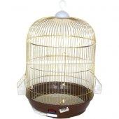 Dayang Silindir Kuş Kafesi Pirinç Kaplama 39x42...