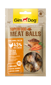 Gimdog Meatballs Havuç Keten Tohumu Ve Tavuk...