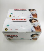 Lastikli Telli 3 Katlı Cerrahi Maske Mavi Renk Maske 100 Adet