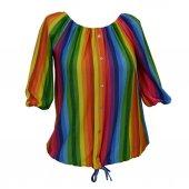 Helly Kadın Yarım Kol Renkli Bluz