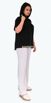 Sürmeli Triko Ghada Bayan Kelebekli Kapşonlu Triko Bluz Ceket 17121