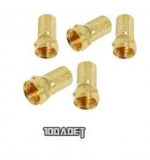 F Konnektör Rg6 Gold Altın 1 Paket (100...