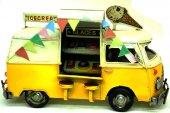 Dekoratif Vintage Metal Dondurma Minibüsü