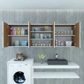 Kenzlife banyo dolabı ustinya cvz 060*150*22 hazır mutfak ofis dolabı kitaplık kapaklı raflı