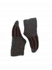 Nuh Home Kışlık El Örme Patik Çorap