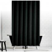 Zethome Jackline Banyo Duş Perdesi 0010 Siyah Çift Kanat2X120x200