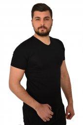 Teqne Man V Yaka Düz Erkek Tişört