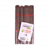 Nerox 4lü Kahverengi Kırmızı Bambu Servis Nrx...