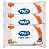 Activex Antibakteriyel Islak Mendil Aktif 3lü...
