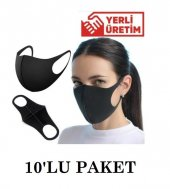 Siyah Nano Steril Yıkanabilir Yüz Maskesi 10lu...