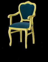Bengi Sandalye Kolçaklı Zus512 Oymalı Aslan...