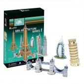 Mini Mimari Yapılar Seri 1 3d Puzzle