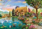 Ks Games 2000 Parça Göl Kenarındaki Çiftlik Evi Puzzle